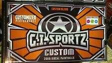 Gi Sportz Custom 2 🌟 Star equivalent Paintballs 500 rounds New Green