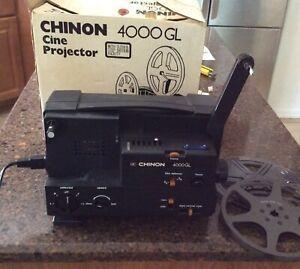 Vintage CHINON 4000GL Cine Adjustable Speed Movie Projector In Box