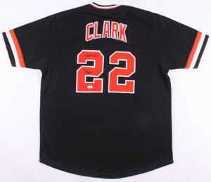 "Jack Clark Signed San Francisco Giants Black Jersey Inscribed ""Ripper""(JSA COA)"