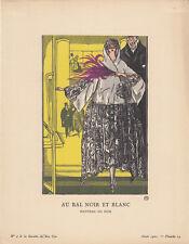 Abendmantel Pochoir Gazette de Bon Ton 1921 Mode ART DECO Simeon