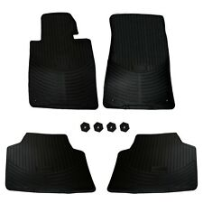 For BMW E46 323 325 330 M3 Set of 4 Front & Rear Convertible Rubber Floor Mats