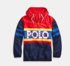 Polo Ralph Lauren Color-Blocked Poplin Hi Tech Pullover Jacket Vintage Cp93 Ski