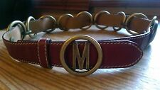 Moschino ladies leather belt