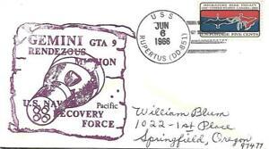 RUPERTUS (DD-851) 6 June 1966 Gemini 9 US Navy Pacific Recovery Force