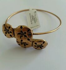 Alex and Ani Sand Dollar Wrap Russian Gold Bangle Bracelet New/Tags Box Vintage
