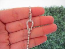1.00 Carat Diamond White Gold Tennis Bracelet 18k B54W sep