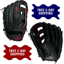 "Wilson A2K 1775SS 12.75"" Adult Outfield Baseball Glove SuperSkin Dual Post Web"