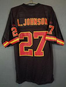 MEN REEBOK LARRY JOHNSON #27 KANSAS CITY CHIEFS NFL FOOTBALL SHIRT JERSEY SIZE S