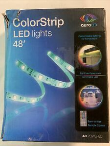 Tzumi Aura 48 ft. LED Multi-Strip Light with A/C Power Adapter, White