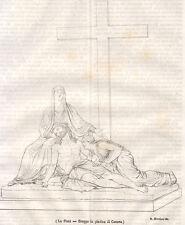La Pietà-Gruppo in plastica di Canova, litografia 1843