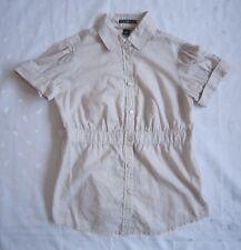 GAP Women's Short Cuffed Sleeve Buttons Front Stripped Shirt - Size M