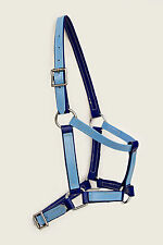 Full Size Halter / Headstall - Blue / Light Blue PVC