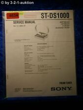 Sony Service Manual ST DS1000 FM/AM Tuner (#4634)