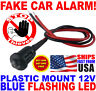 12v BLUE Flashing Dummy Fake Car Alarm Dash Mount LED Light FAST FREE SHIP! pm