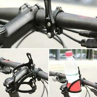 Bike Cycling Water Bottle Cage Holder Frame Adapter Clamp-on Attachment Bicycle