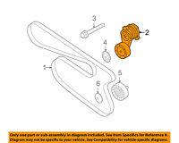 BMW OEM 07-13 328i-Serpentine Drive Fan Belt Tensioner 11288624196