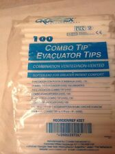 CROSSTEX COMBO TIP EVACUATOR TIPS COMBINATION VENTED/NON-VENTED REF ZET QTY 100