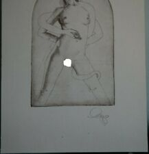 NUDES  and  SNAKE-test print-OLAF GROPP*1943-2012 GERMANY-signed