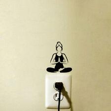 Fashion Yoga Meditation Vinyl Wall Decals Light Switch Stickers