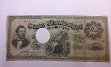 1870 $2 State of Mississippi