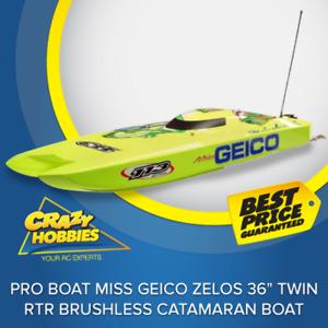 "Pro Boat Miss GEICO Zelos 36"" Twin RTR Brushless Catamaran Boat *IN STOCK*"