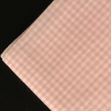 """Vintage Gingham Fabric Pink Cotton Blend 1/8"""" Check 3 Yards 16"""" X 45"""" Wide - NOS"""