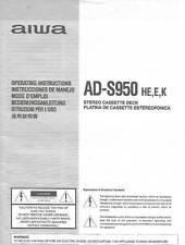 AIWA AD-S950 AD S 950 - USER OWNER'S MANUAL - EN ES FR DE ITJP, 日本語 -