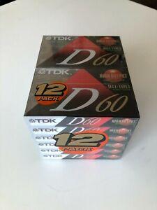 TDK D60 CASSETTE TAPES12 PACK SEALED UNOPENED