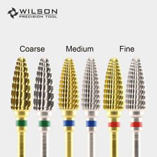 Large Cone - Gold/Silver - Wilson Carbide Nail Drill Bits Electric Manicure