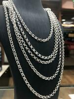 925 Sterling Silver Solid Mens Ladies Close Curb Belcher Chain Necklace Heavy