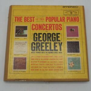 Vtg George Greeley Popular Piano Concertos Reel To Reel Tape 3 3/4