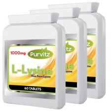 L-LYSIN 180 Tabletten 1000 Mg Super Stark Fieberblasen Aminosäure Purvitz 3