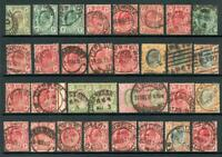 South Africa Postmarks on EDVII Transvaal Stamps. Approx 30 pmks