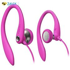 Philips Flexible Earhook Headphone Gym Workout Running Sports Top Quality Pink
