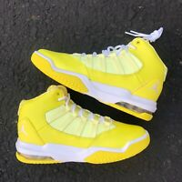 JORDAN MAX AURA G SKID'S MID-TOP DYNAMIC YELLOW ATHLETIC SNEAKER AQ9249-701
