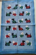 Samuel Lamont UK Scottie & Westie Tea Towel NWT Scottish Terrier Dog Highland