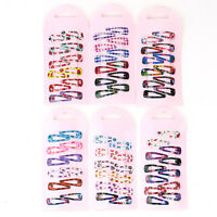 120pcs Girl Baby Princess Slides Snap Hair BB Clips Slid Kids Hair Accessories