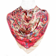Foulard  100% Soie Rouge  motif Cachemire silk séide scarf shawl