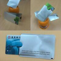 10x Kreditkartenschutz RFID-Blocking-Schutzhülle Sichere Kartenhalter T5Q7