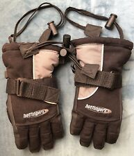 Hotfingers Snow Ski Winter Sherpa Lined Black Gloves Youth S/5-6