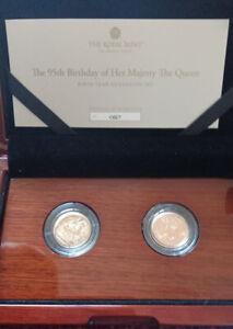 The 95th Birthday 2021 & 1926 Queen Birth Year Sovereign Set  LE 100 Box + CoA