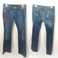 Street Denim Factory Ladies Size 9 Distressed Jeans Made in USA RN# 35339