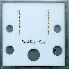 Capital 6.5x6.5 Galaxy 5 coin Wedding Year coin holder cent - half-dollar White