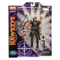 "MARVEL SELECT AVENGING HAWKEYE 7"" ACTION FIGURE Disney Store Exclusive Avengers"