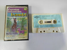 BAMBI ALI BABA Y LOS 40 LADRONES CINTA CASSETTE 1980 SPANISH ED PAPER LABELS