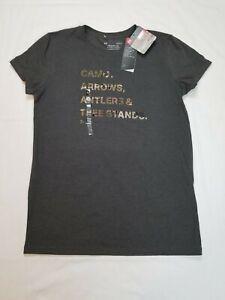 Under Armour Women's Barren Camo T- Shirt Camo Hunting Gray Size M 1318118-019