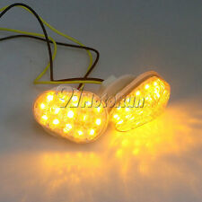 Clear Flush Mount LED MINI Turn Signals For ZX9R 1998-2003/ZX7R 1996-2003 97 98