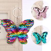 Mermaid Sequins Keychain Handbag Pendant Butterfly Keyring Bag Accessories JR