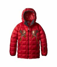 $925 100% AUTH Dolce & Gabbana Girl Down Feather Goose Hood Coat Jacket Italy