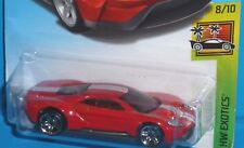 2018 HOT WHEELS '17 Ford GT HW EXOTICS 8/10 Col. #240/365 Red 2017 50th Card